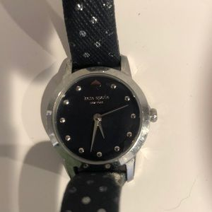 Kate spade thin polka dot watch with pave crystals